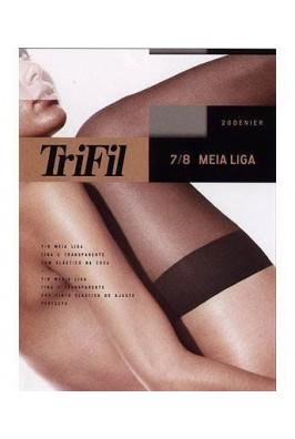 MEIA LIGA 7/8 TRIFIL 6001 FIO 20  - loja / Chocolate com Pimenta.